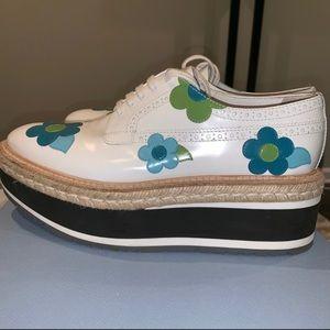 Prada platform shoes with flowers size 40